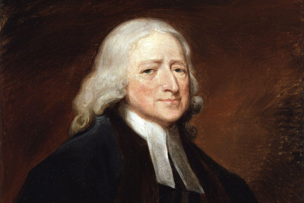 """John Wesley,"" by the English artist George Romney, oil on canvas."