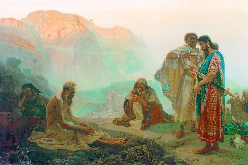 Job and His Friends by Ilya Repin