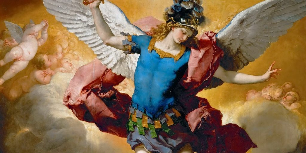 Archangel Michael Hurls the Rebellious Angels into the Abyss