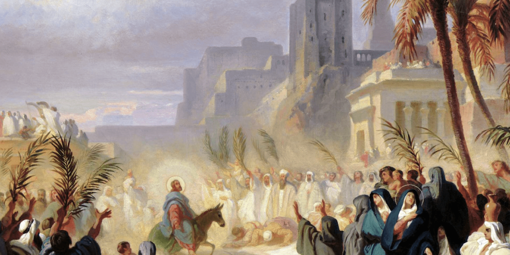 Christ's entry into Jerusalem, Felix Louis Leullier (1800s)